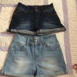 Two pairs of YMI Wannabettabutt jean shorts!